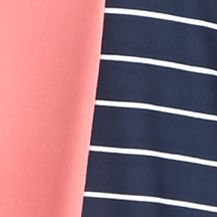 Kim Rogers Women Sale: Sorbet Strand Kim Rogers Three Quarter Sleeve Striped Tie Front Shirt
