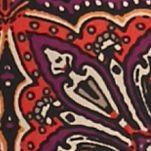 Kim Rogers® Women Sale: Rust Rainer Kim Rogers Elbow Sleeve Print Lace Up Top
