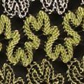 Tunic Tops: Grass Halfglow Kim Rogers Striped Three-Quarter Shark-Bite Crochet Tunic