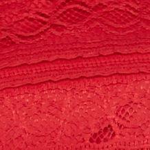 Kim Rogers Women Sale: Red Wavelace Kim Rogers Ribbon Lace Swing Top