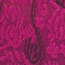 Kim Rogers Women Sale: Plum Rollover Kim Rogers Printed 2Fer Cardigan