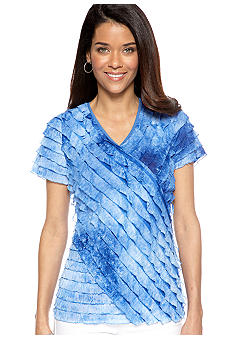 Kim Rogers Allover Short Sleeve Eyelash Tee