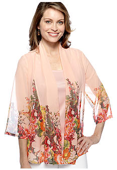 Kim Rogers Boarder Print Two Piece Bed Jacket
