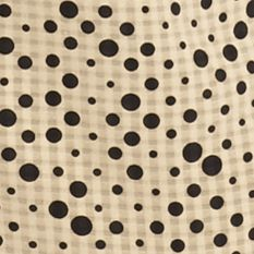 Kim Rogers Women Sale: Khaki Icemoon Kim Rogers Roll Sleeve Polka Dot Camp Shirt