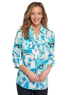 Kim Rogers Printed Button Down Shirt