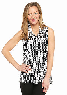 Kim Rogers Sleeveless Swing Top