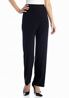 Kim Rogers Pull On Flat Front Slinky Pant