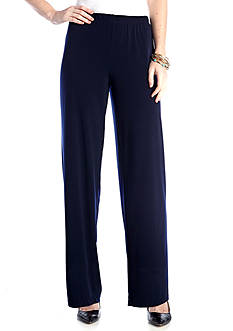 Kim Rogers Pull On Flat Front Pants
