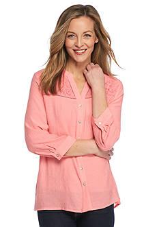 Kim Rogers Utility Button Down Shirt