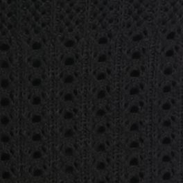 Kim Rogers Women Sale: Black Kim Rogers Pointelle Sweater With Lace