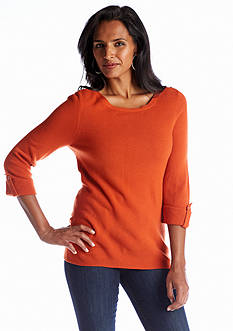 Kim Rogers® Solid Pullover Knit Sweater