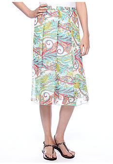 Kim Rogers Printed Bias Skirt