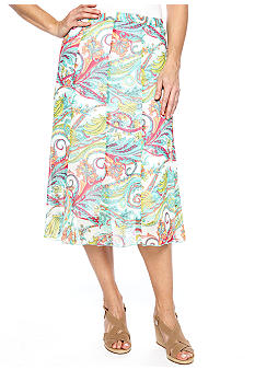 Kim Rogers Gore Knee Length Skirt