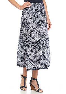 Kim Rogers Petite Printed Tiered Skirt