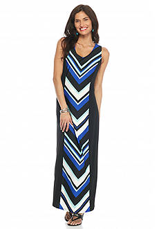 Kim Rogers Petite Sleeveless Printed Maxi Dress