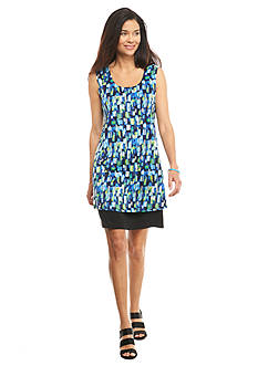 Kim Rogers Petite Printed Sleeveless Dress