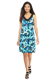 Kim Rogers Petite Sleeveless Floral Dress