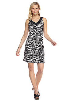 Kim Rogers Petite Sleeveless Printed Dress