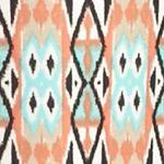 Petites: Kim Rogers Pants: Native Lineage Kim Rogers Petite Printed Border Pants