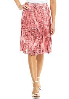 Kim Rogers Petite Printed Skirt