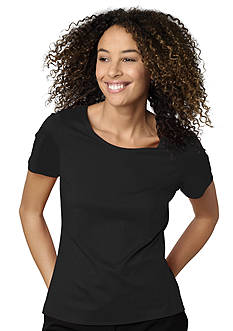 Kim Rogers Petite Short Sleeve Nylon Spandex Tee