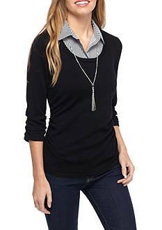 Kim Rogers Petite Sweater 2Fer