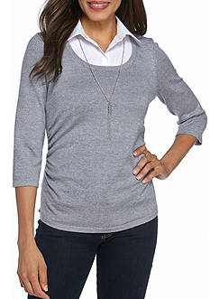 Kim Rogers Sweater 2Fer