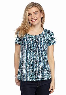 Kim Rogers Petite Printed Knit Top