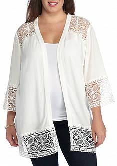 Kim Rogers Plus Size Lace Bed Jacket