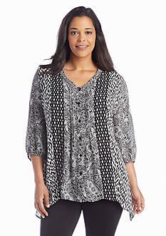Kim Rogers® Plus SizeTwin Print Utility Shirt