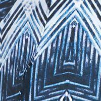 Discount Plus Size Dresses: Blue Icicle Kim Rogers Plus Size Printed Split Front Dress