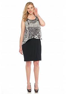 Kim Rogers Plus Size Printed Popover Dress