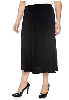 Kim Rogers Plus Size Solid Gore Skirt