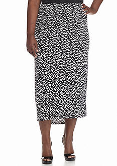 Kim Rogers Plus Size Spliced Skirt