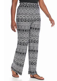 Kim Rogers Women's Plus Printed Pants