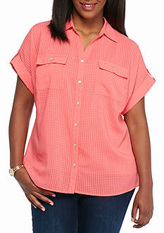 Kim Rogers Short Sleeve Utility Top