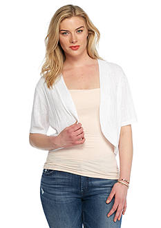 Kim Rogers Plus Size Open Front Shrug