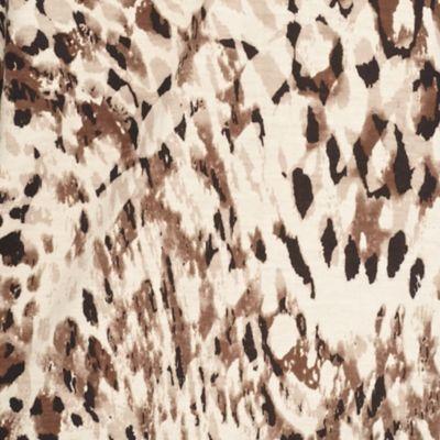 Kim Rogers Women Sale: Neutral Kim Rogers Printed Henley Top