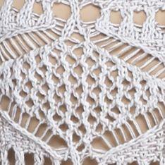 Jeanne Pierre: Monument Combo Jeanne Pierre Open Knit Sweater