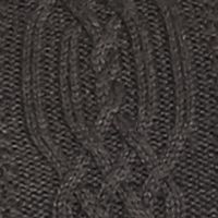 Jeanne Pierre Women Sale: Charcoal Heather Jeanne Pierre Cable Crew Neck Sweater