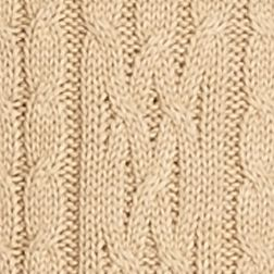Sweaters for Women: Camel Heather Jeanne Pierre Cowl Neck Cable Sweater