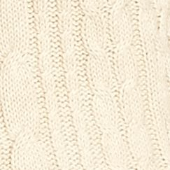 Sweaters for Women: Light Beige Heather Jeanne Pierre Cowl Neck Cable Sweater