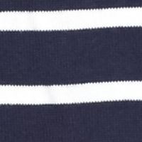 Jeanne Pierre Women Sale: Navy/White Jeanne Pierre Striped Fine Gauge Sweater