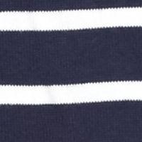 Jeanne Pierre: Navy/White Jeanne Pierre Striped Fine Gauge Sweater