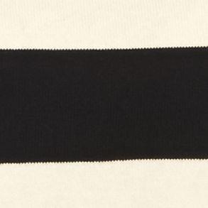 Jeanne Pierre: Black/Eggnog Jeanne Pierre Fine Gauge Stripe Pullover Sweater