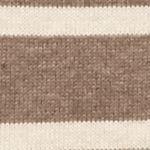 Statements: Jeanne Pierre: Taupe Combo Jeanne Pierre Fine Gauge Stripe Turtleneck Sweater