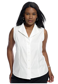 Jones New York Collection Plus Size Sleeveless Non-Iron Blouse