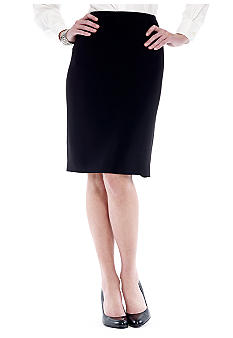 Jones New York Collection Petite Platinum Pencil Skirt