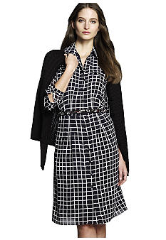 Jones New York Collection Long Sleeve Shirt Dress