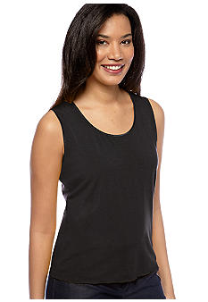 Jones New York Collection Satin Trim Tank